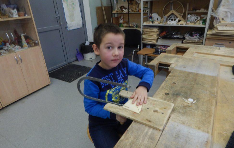 Макет ракеты руками воспитанников детского сада