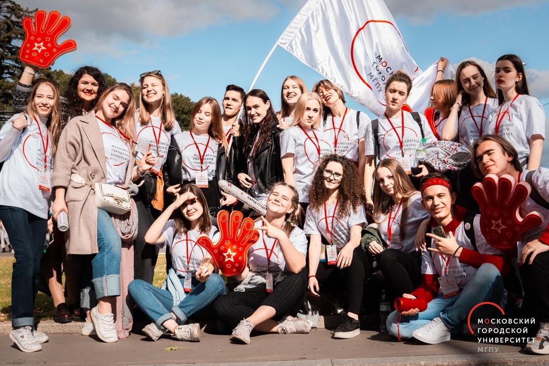 Московский парад студентов 2019