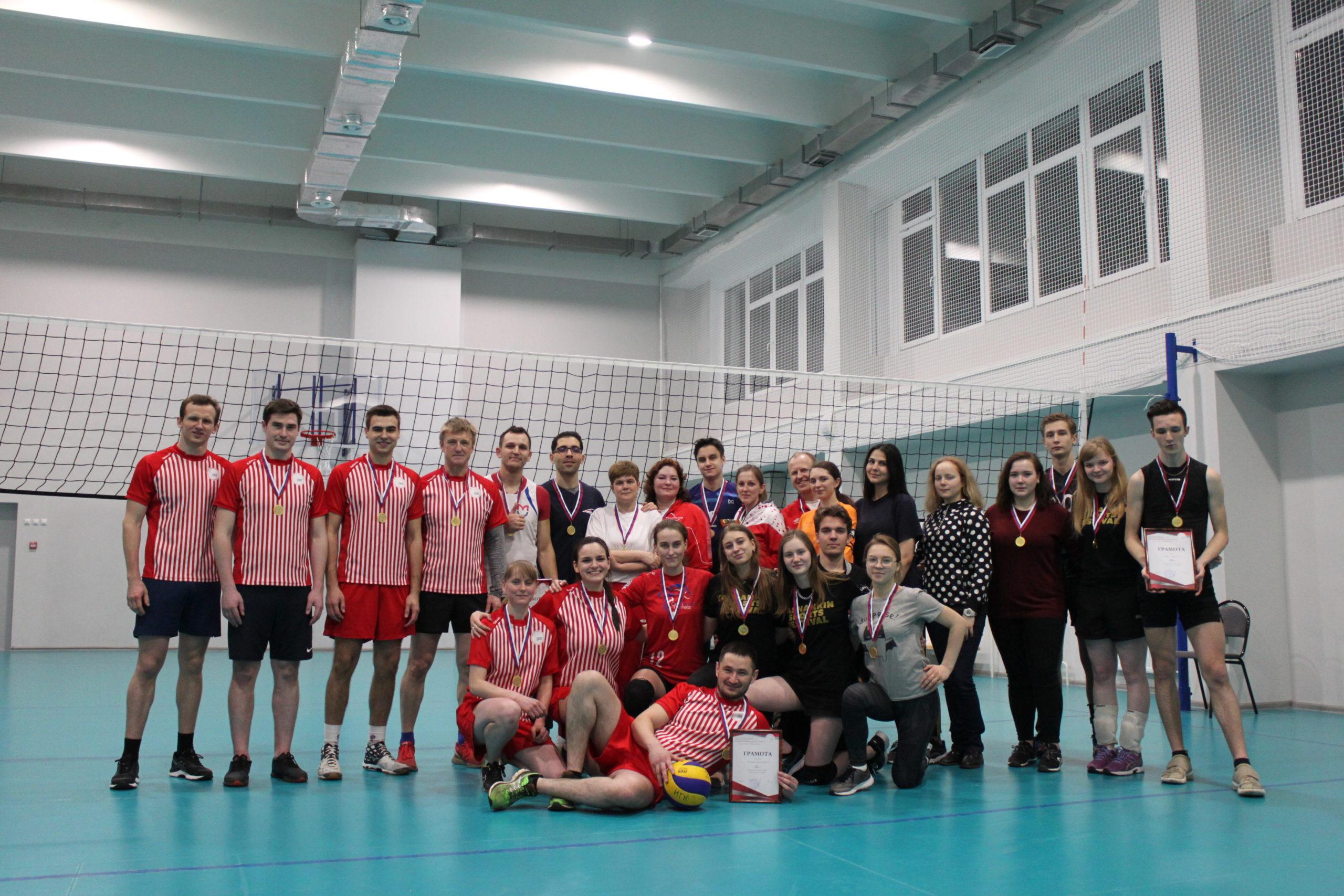 В ИЕСТ прошла товарищеская встреча по волейболу
