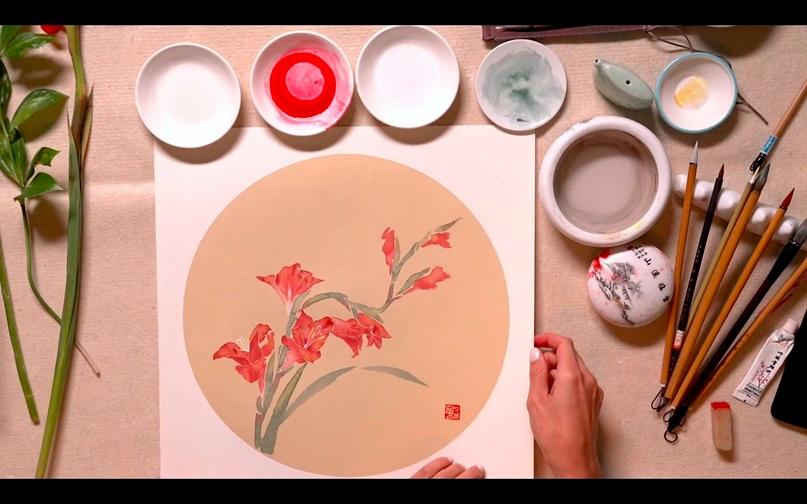 Студенты посетили онлайн мастер-класс китайской живописи гунби