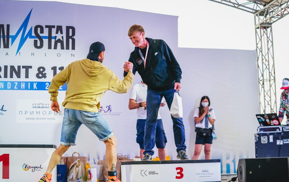 Александр Страдзе иСергей Францев— медалисты IRONSTAR 113